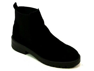 0aab180cf4a0 Womens Schuh Speedy Black Suede Chunky Classic Flat Chelsea Ankle Boots  Size 6