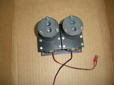 miniature diaphragm vacuum pump pair mounted portescap DC motors samplers 26mm