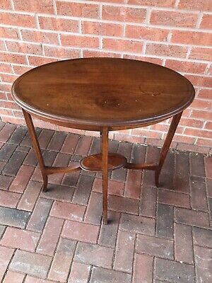 Antique ~ Edwardian ~ Mahogany ~ Side/Occasional Table ~ Oval ~ Solid
