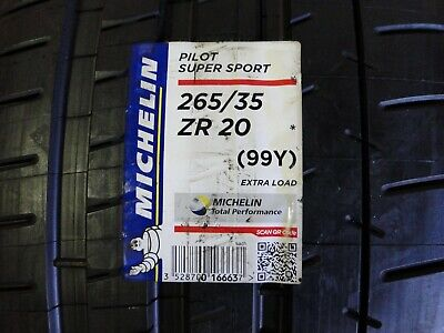 1 NEW 265/35ZR20 (99Y) XL Pilot Super Sport MICHELIN - SUMMER MAX PERFORMANCE