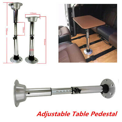 Boat RV Aluminum 7 Adjustable Height Table Pedestal W/ Removable Base 22-28 Inch