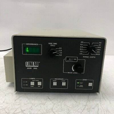 Linear UVIS 200 Variable Wavelength Absorbance Detector 0200-0000 Tested