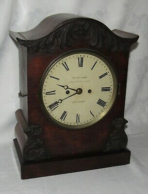 Quality English Rosewood Double Fusee Bracket Clock