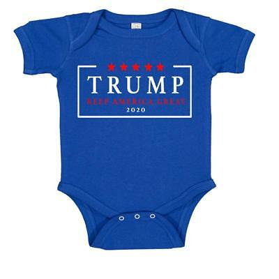 Re Elect Donald Trump 2020 USA Keep America Great Baby Bodysuit