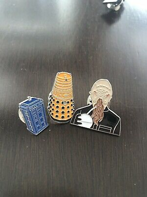 Lot Of Doctor Who Pins Dalek Tardis Ood Pre-Owned BBC C2E2 Science Fiction