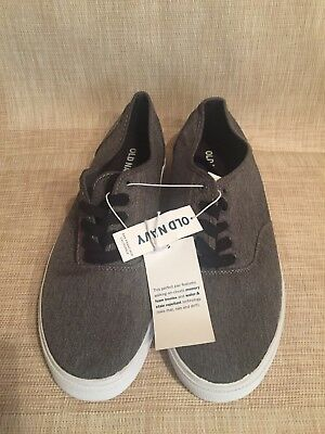 e8e115df26ca05 OLD NAVY Men s Navy Canvas Casual Walking Tennis Shoe Size 11 New Charcoal  Gray
