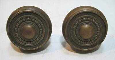 2 Antique Victorian Style Handcrafted Solid Brass Door Knobs