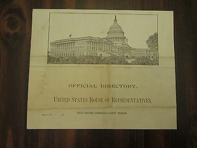 Official Directory United States House of Representatives April 11, 1911