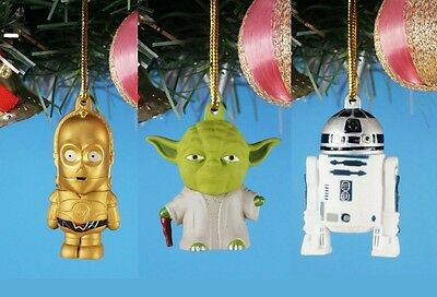 Decoration Xmas Ornament Home Party Decor Star Wars Yoda C-3PO R2-D2 Droid Set