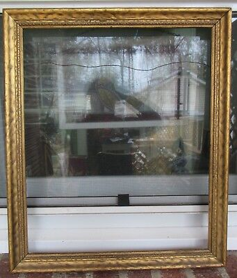 VINTAGE American Arts & Crafts ART DECO Gold Carved FRAME 15 x 18 in. fit c1930s
