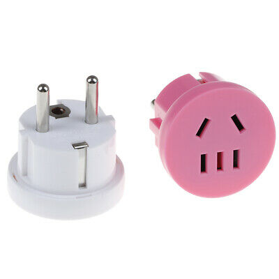 AU To EU Plug USA to europe travel wall AC power plugs charger adapter converter