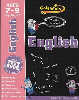 English Ages 7-9 KS2 with Test Book (GOLD STARS) Supports National Curriculum