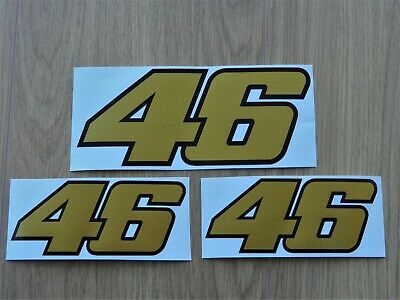 "200mm x 80mm Rossi Number 46 /""Distorted Stripes/"" Sticker Decal"