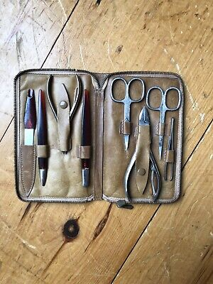 Vintage Ghurka  Marley Hodgson Leather Nail Toolkit With Tools