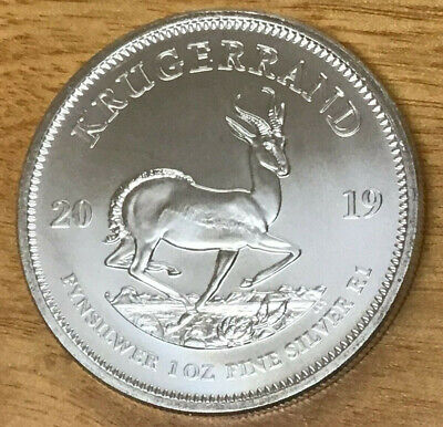 2019 South Africa Krugerrand 1 Ounce .999 Silver Round - Nice Looking!