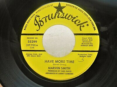 "1967 Northern Soul 7"" MARVIN SMITH ‎– Time Stopped / Have More Time  PROMO *HEAR"