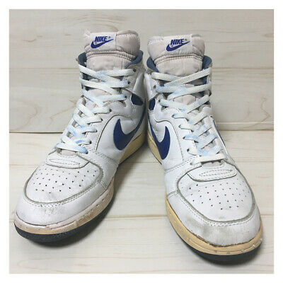 best loved b0f9c e3020 NIKE TEAM CONVENTION White Vintage Sneakers Sports Shoes size US 9 12 Y107
