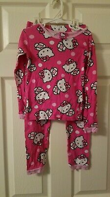 Hello Kitty. Girls 3 piece Pajama set. Size 8.