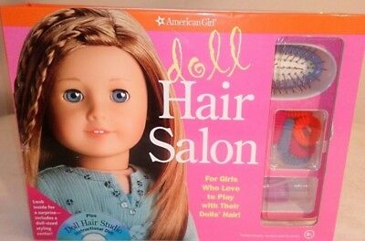 American Girl Doll HAIR Studio SALON Book, Accessories & DVD Ages 8 +