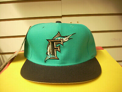 5b4cf5868e1179 Mlb Youth New Era 59Fifty Florida Marlins Teal Fitted Cap Hat 6 5/8  Throwback