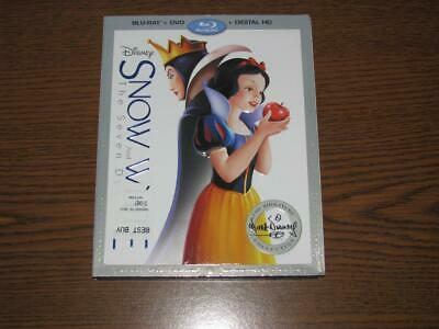 Snow White and the Seven Dwarfs (Blu-ray/DVD, 2016) with Slip Cover