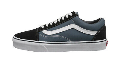 VANS Old Skool Navy Blue Suede Canvas Lace Up Sneakers Fashion Women Shoes