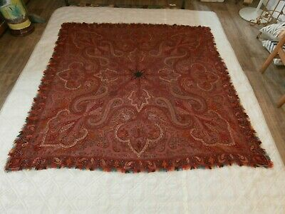 RARE Early 19th Century HANDMADE Paisley Excellent Condition Grand Tour NR
