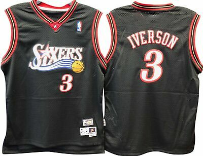 59c9923fd Allen Iverson Philadelphia 76Ers Nba Hardwood Classics Throwback Swingman  Youth