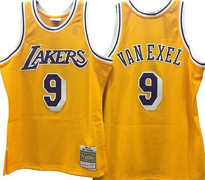 7bc5d3415 Nick Van Exel La Lakers Nba M n Hardwood Classic Throwback Swingman Jersey