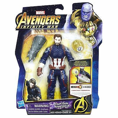 Marvel Avengers Infinity War Captain America Hero Vision With Stone - New in Box