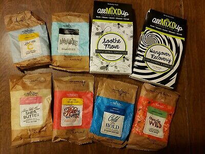 """Perfectly Posh """"All Mixed Up"""" Bath Salts Lot Of 8 New"""