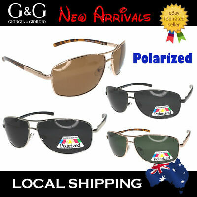 Mens Ladies Metal Frame Aviator Polarized Sunglasses Eyewear UV400 +Free case