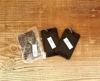 Set of 3 Luggage ID Tags Name Travel Bag Suitcase Backpack Label Black