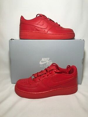online retailer bb1fb 61cf3 NIKE AIR FORCE 1 QS (GS) Sz 7Y Red Independence UNVRSTY RD/UNVRSTY ...