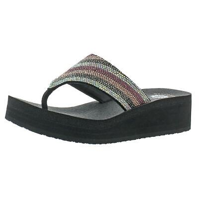 df7577289e1359 YELLOW BOX SHOES Women s Africa Wedge Flip Flop- Size 6.5 -  25.00 ...