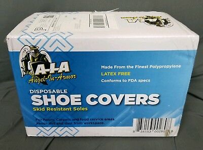300 Disposable Shoe Covers XL to Size 13 Non-Skid Medical Booties Hospital Home