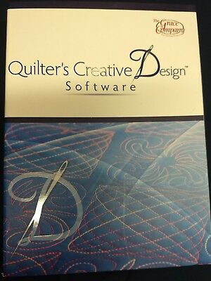NEW - Quilter's Creative Design Software - By Grace Company - long arm quilting