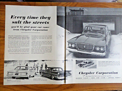 1961 Chrysler Dodge Dart Lancer Imperial Ad Every Time they Salt the Streets