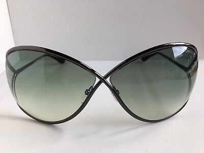 abcaabfb27e TOM FORD MIRANDA TF130 28F Gold Ivory w  Brown Gradient Lenses 68mm ...