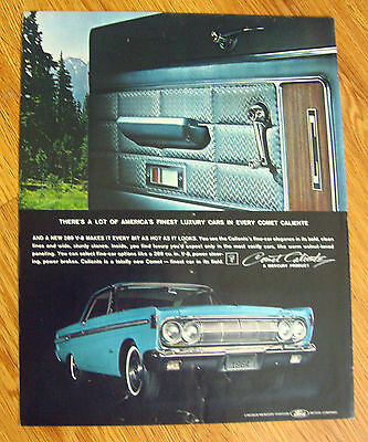 1964 Mercury Comet Caliente Ad 1963 Western Electric Bell Telephone Ad