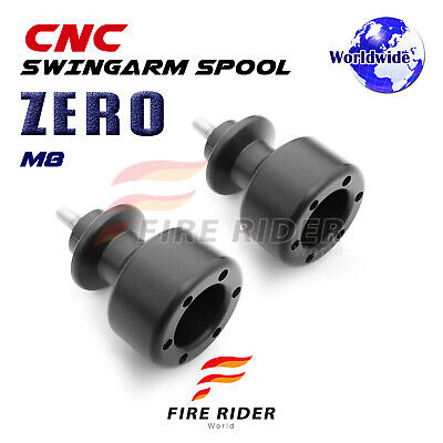 ZERO Black Rear 8mm Swing Arm Spools Bobbins For Suzuki GSX1300R HAYABUSA 99-12