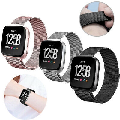 For Fitbit Versa/Versa 2/LITE Strap Milanese Wrist Band Stainless Steel Magnetic