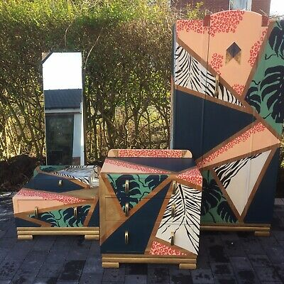 Handpainted 3 Piece Bedroom furniture.v Unusual! Highly Unique In Every Way!