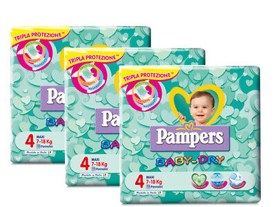 57 Pannolini Pampers baby dry taglia 4 ( 7 - 18 kg )