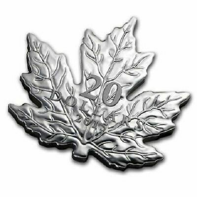 2015 $20 Canada - Maple Leaf shaped 1 oz Silver Proof Coin - Royal Canadian Mint