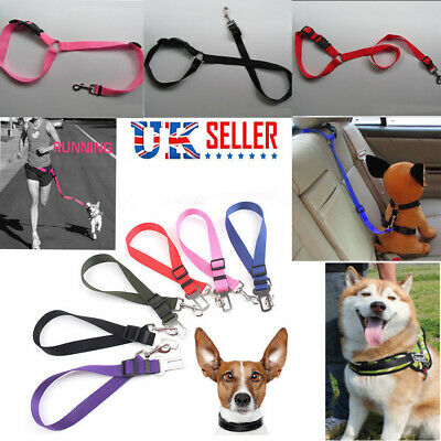 Pet Dog Car Vehicle Travel Safety Seat Belts Adjustable Harness Restraint Clip