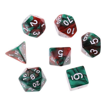Polyhedral Dice For Dungeons Dragons DND RPG D20 D12 D10 D8 D6 Game