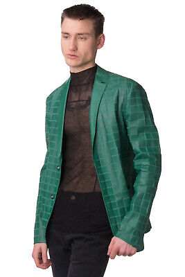 EMPORIO ARMANI Lamb Leather Blazer Jacket Size 48 / M Unlined Made in Italy