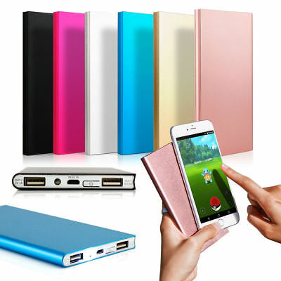 Ultra Thin 20000mAh 2 USB Power Bank External Battery Portable Charger for Phone