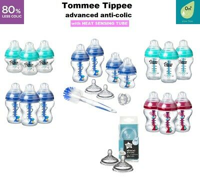 Tommee Tippee Advanced Anti-Colic Bottle Heat Sensing Tube Slow Flow
